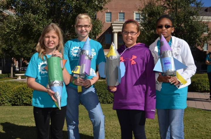 Girls and their rocket ships at SMU!