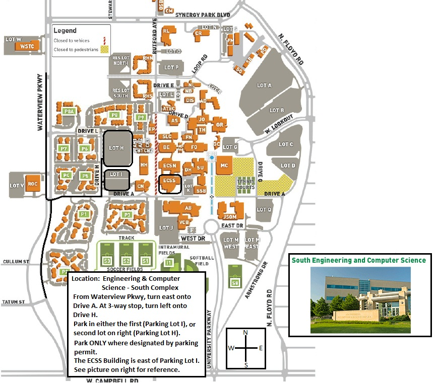 Campus Map and Parking Pass – Design Your World
